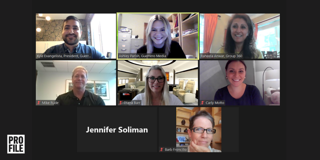 Screenshot of HR leaders at the Profile CHRO Roundtable