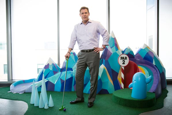 Though Scott Thomas is more than happy to queue up a putt on CN's Adventure Time-inspired mini-golf hole, he knows that finding the perfect show sometimes requires several missed shots. Such is his strategy as VP of marketing, where he advocates for a strategy of sampling, sampling, sampling.
