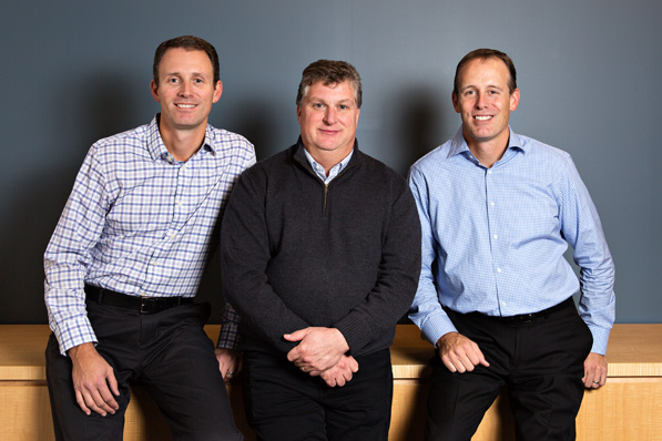 Meet the cofounders and partners leading the way at Maven Wave: Jason Lee, Brian Farrar, and Jeff Lee. Photo: Caleb Fox.