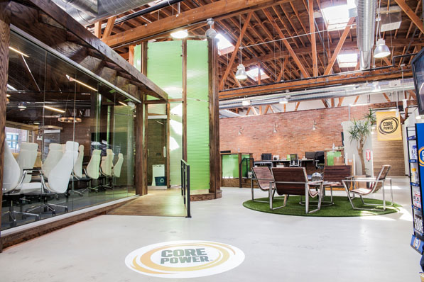 The open concept of the Fairlife lobby carries into the Bullpen, which houses the sales and marketing department. Without walls, the creative teams can collaborate freely.
