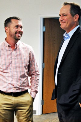 Jeff Bak, right, believes in keeping his staff focused on clear goals each quarter, which in turn has resulted in significant growth.