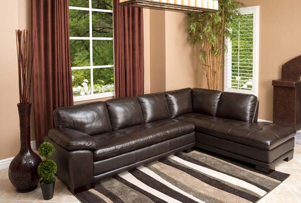Devonshire Top-Grain Leather Sectional Sofa