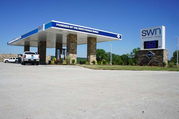 Southwestern Energy is a leading player in Arkansas's natural gas industry. SWN's compressed natural gas station in Damascus is open to the public, providing clean-burning fuel to its own fleet and its neighbors.